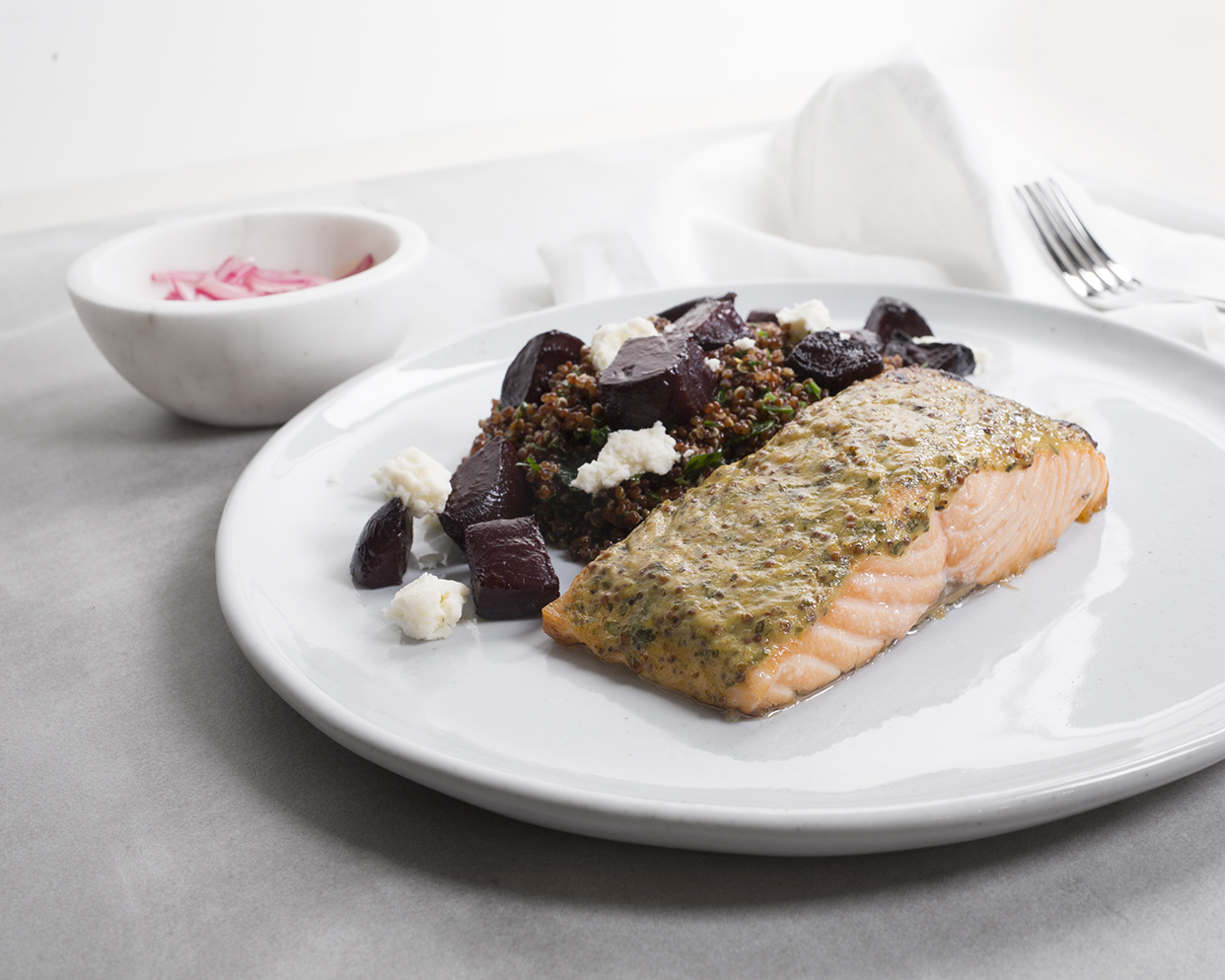 Stone Ground Mustard-Glazed Salmon